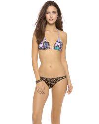Tigerlily Multicolor Baroque Tara Bikini Top