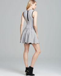 Torn By Ronny Kobo Black Dress Liza Geo Knit