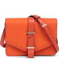 Victoria Beckham Orange Leather Mini Satchel