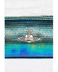 Vivienne Westwood Blue Metallic Pencil Case