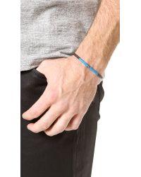 Yuvi | Blue Black Diamond Bracelet with African Vinyl for Men | Lyst