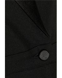 Alexander McQueen Black Wool and Silk-blend Tuxedo Jumpsuit