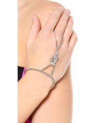 Ben-Amun | Metallic Crystal Hand Piece - Clear | Lyst