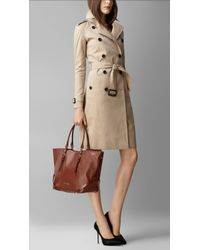 Burberry Brown Belt Detail Nappa Leather Tote Bag