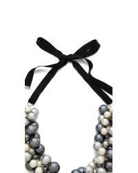 By Malene Birger - Black Canina Necklace - Lyst