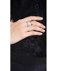 Campbell - Metallic Double Stack Ring - Lyst