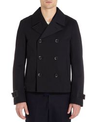 Elie Tahari Blue Double Breasted Peacoat for men
