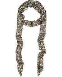 Étoile Isabel Marant Metallic Pulse Sequin Embellished Scarf