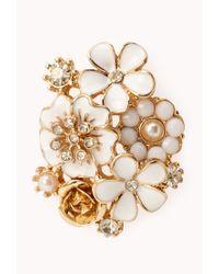 Forever 21 - Multicolor Elegant Floral Cluster Studs - Lyst
