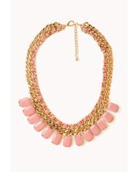 Forever 21 | Metallic Sweet Side Curb Chain Bib You've Been Added To The Waitlist | Lyst