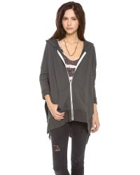 Free People Gray Cover Me Hoodie
