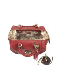 Guess Red Gerri Eco Leather Satchel