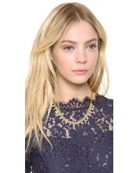 Juicy Couture - Metallic Box Chain Rhinestone Necklace - Lyst