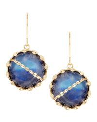 Lana Jewelry | Blue Mesmerize Moonstone/onyx Earrings | Lyst