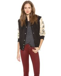 Love Leather - Multicolor Lover Letterman Jacket - Lyst