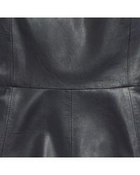 Madewell Black Bon Leather Dress
