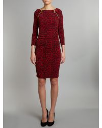 Michael Kors Red Leopard Print Dress