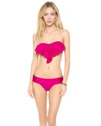 Pilyq Purple Berry Bliss Eyelet Bandeau Bikini Top