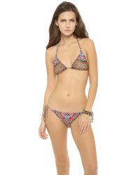 Pilyq Multicolor Raj Triangle Bikini Top