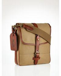 Polo Ralph Lauren Brown Sportsman Canvas Messenger Bag for men