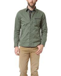 Rag & Bone Green Hendon Overshirt for men