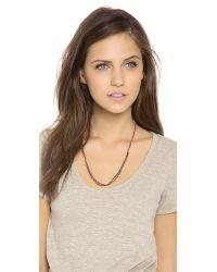 Shashi | Purple Maya Gemstone Bead Necklace | Lyst