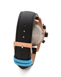 Skywatch Black 44mm Chronograph Watch