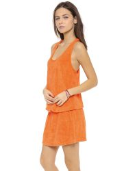 Splendid Orange Signature Terry Cover Up Dress