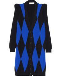 Stella McCartney Black Two Tone Wool Cardigan