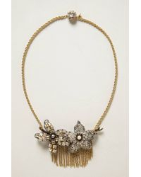 Tataborello | Metallic Fringed Magnolia Necklace | Lyst