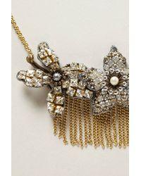 Tataborello | Metallic Fringed Magnolia Necklace | Lyst