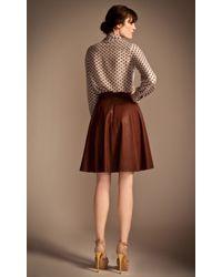 Temperley London Brown Adele Leather Skirt