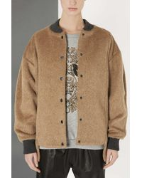 TOPSHOP Brown Furry Bomber By Boutique