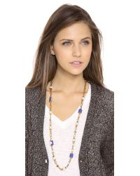 Tory Burch | Black Delphine Rosary Necklace | Lyst