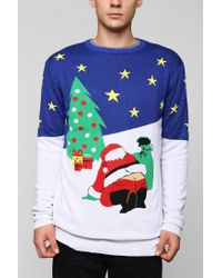 Urban Outfitters | White Santa Crack Sweater for Men | Lyst