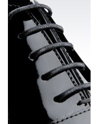 Armani - Black Laceup Shoe for Men - Lyst