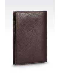 Armani Brown Passport Holder for men
