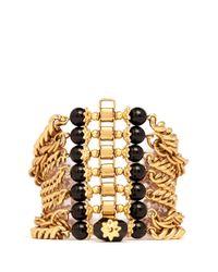 Ela Stone | Metallic Dafna Agates Embellished Chain Bracelet | Lyst