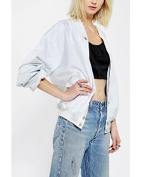 Urban Outfitters | White Civil Athletic Mesh Bomber Jacket | Lyst