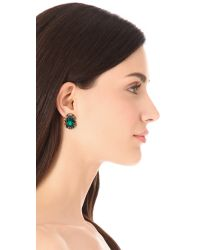 Adia Kibur - Green Classic Gemstone Earrings - Lyst