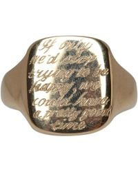 Annina Vogel | Metallic Antique 9ct Gold Engraved Edith Wharton Signet Ring | Lyst