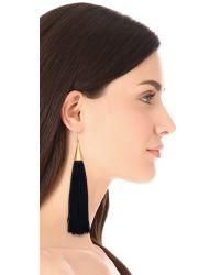 Eddie Borgo - Black Tassel Cone Earrings - Lyst