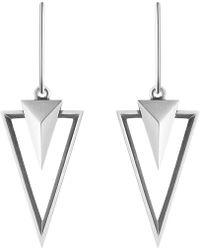 Georg Jensen | Metallic Nocturne Sterling Silver Earrings - For Women | Lyst