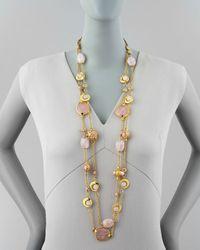 Jose & Maria Barrera - 2strand Long Pink Quartz Necklace - Lyst