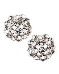 kate spade new york - White Lady Marmalade Crystal Stud Earrings - Lyst