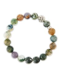 Lagos | Multicolor Caviarball Moss Agate Beaded Stretch Bracelet | Lyst