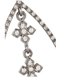 Loree Rodkin - Metallic Marquis 18karat Rhodium White Gold Diamond Earrings - Lyst