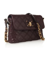 Marc Jacobs Purple The Single Quilted Leather Shoulder Bag
