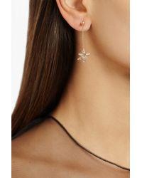Noor Fares Metallic Merkaba Double Dress 18karat Rose Gold Diamond Earrings