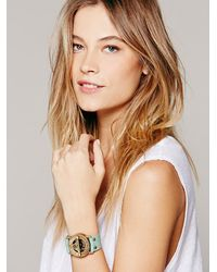 Free People - Green Pandeia Compass Sundial Cuff - Lyst